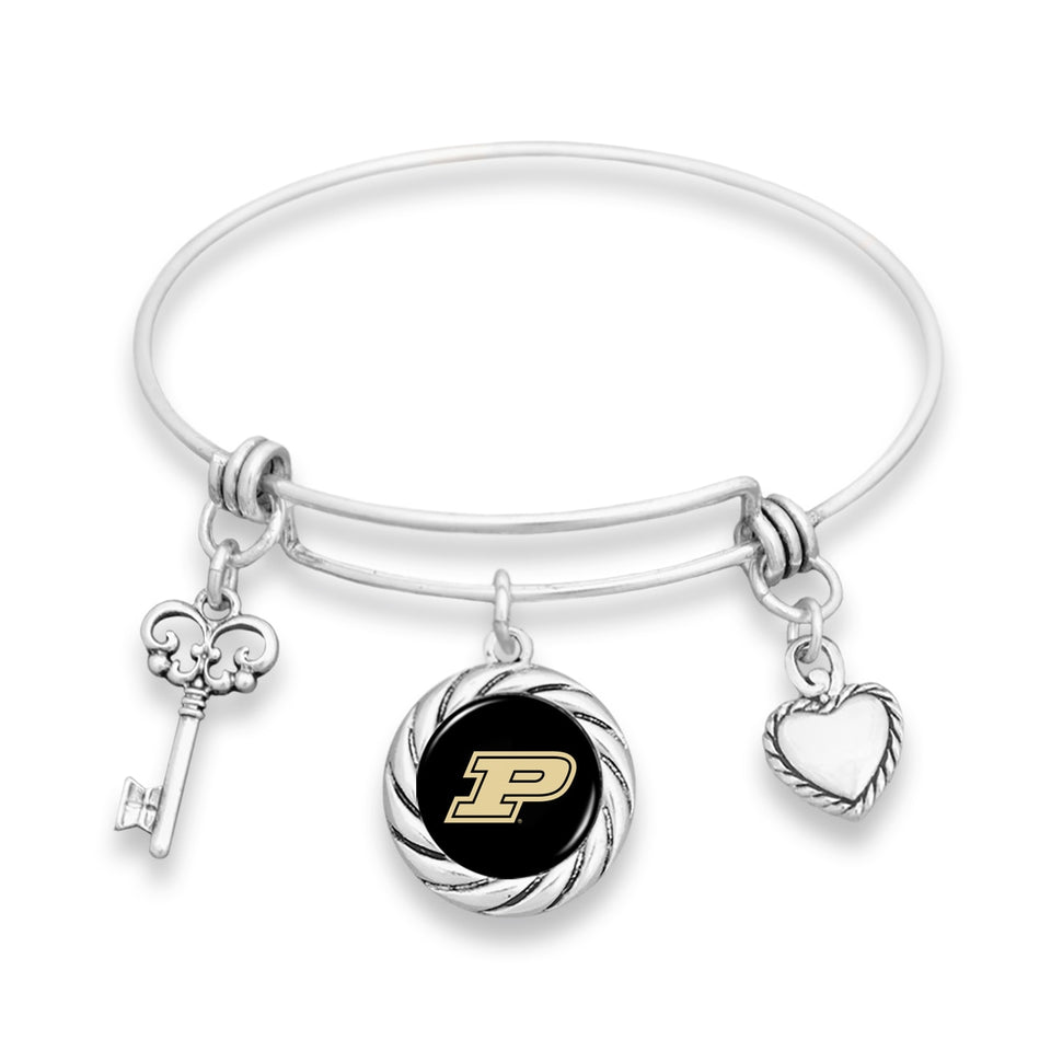 Purdue Boilermakers Twisted Rope Bracelet