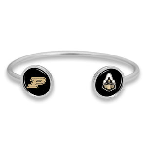 Purdue Boilermakers Duo Dome Cuff Bracelet