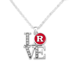 Rutgers Scarlet Knights LOVE Necklace