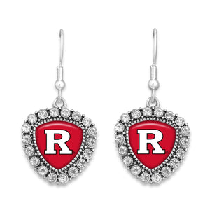 Rutgers Scarlet Knights Brooke Crystal Earrings