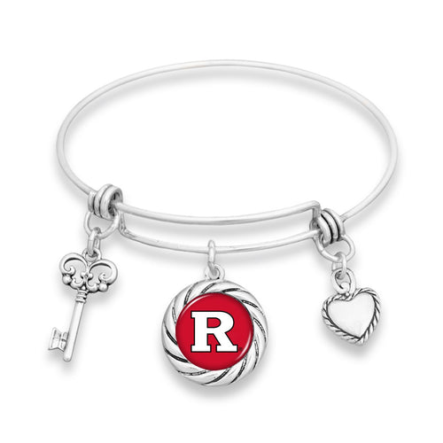 Rutgers Scarlet Knights Twisted Rope Bracelet