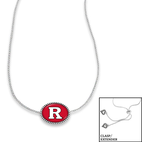 Rutgers Scarlet Knights Adjustable Slider Bead Necklace