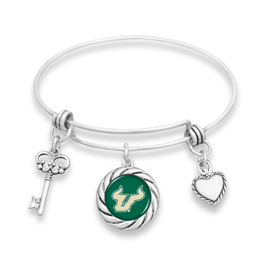 South Florida Bulls Twisted Rope Bracelet