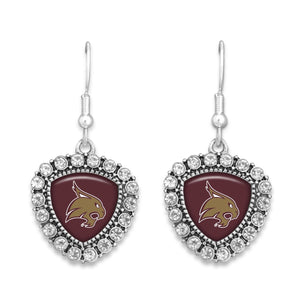 Texas State Bobcats Brooke Crystal Earrings