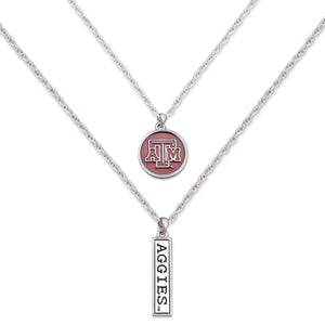 Texas A&M Aggies Double Down Necklace