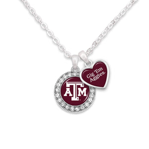 Texas A&M Aggies Spirit Slogan Necklace