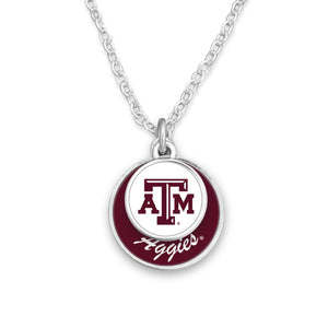 Texas A&M Aggies Stacked Disk Necklace