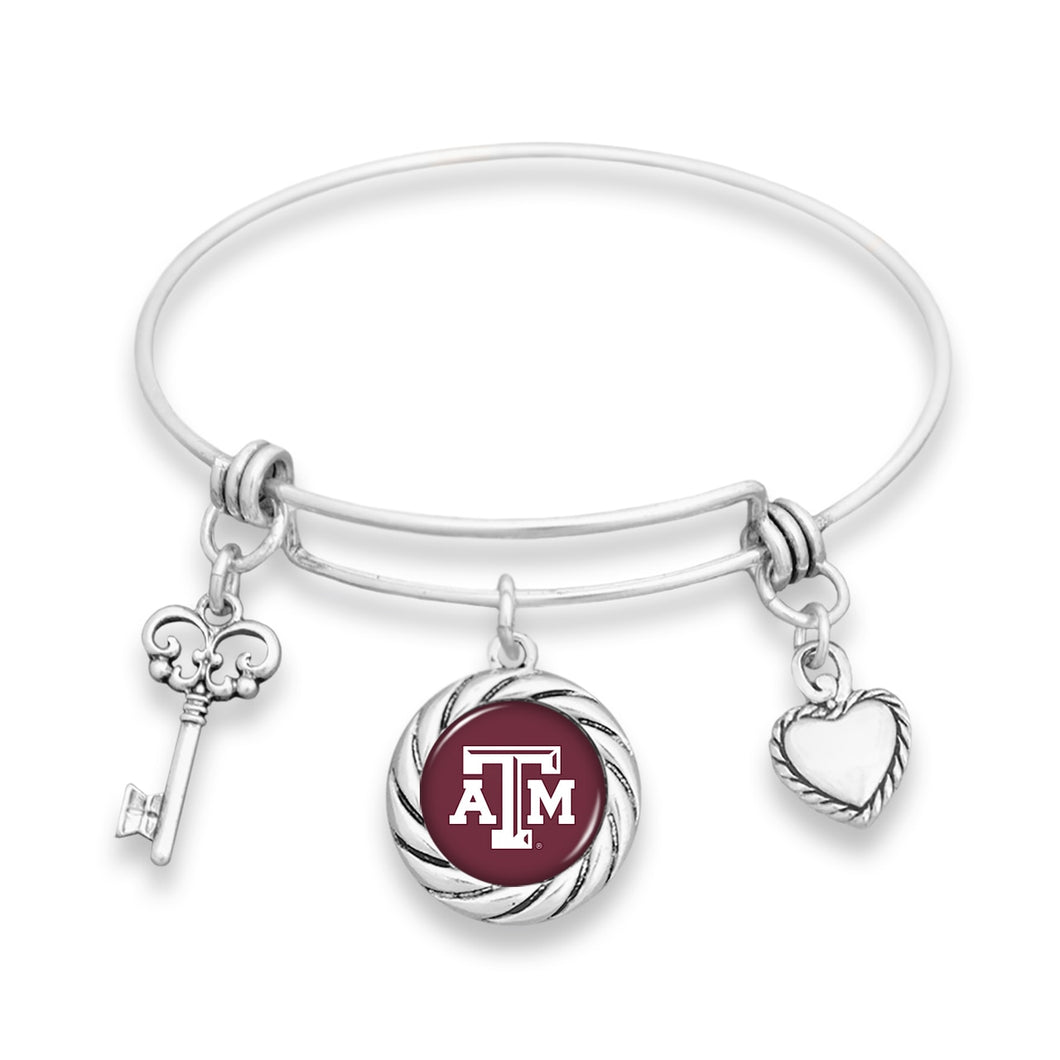 Texas A&M Aggies Twisted Rope Bracelet