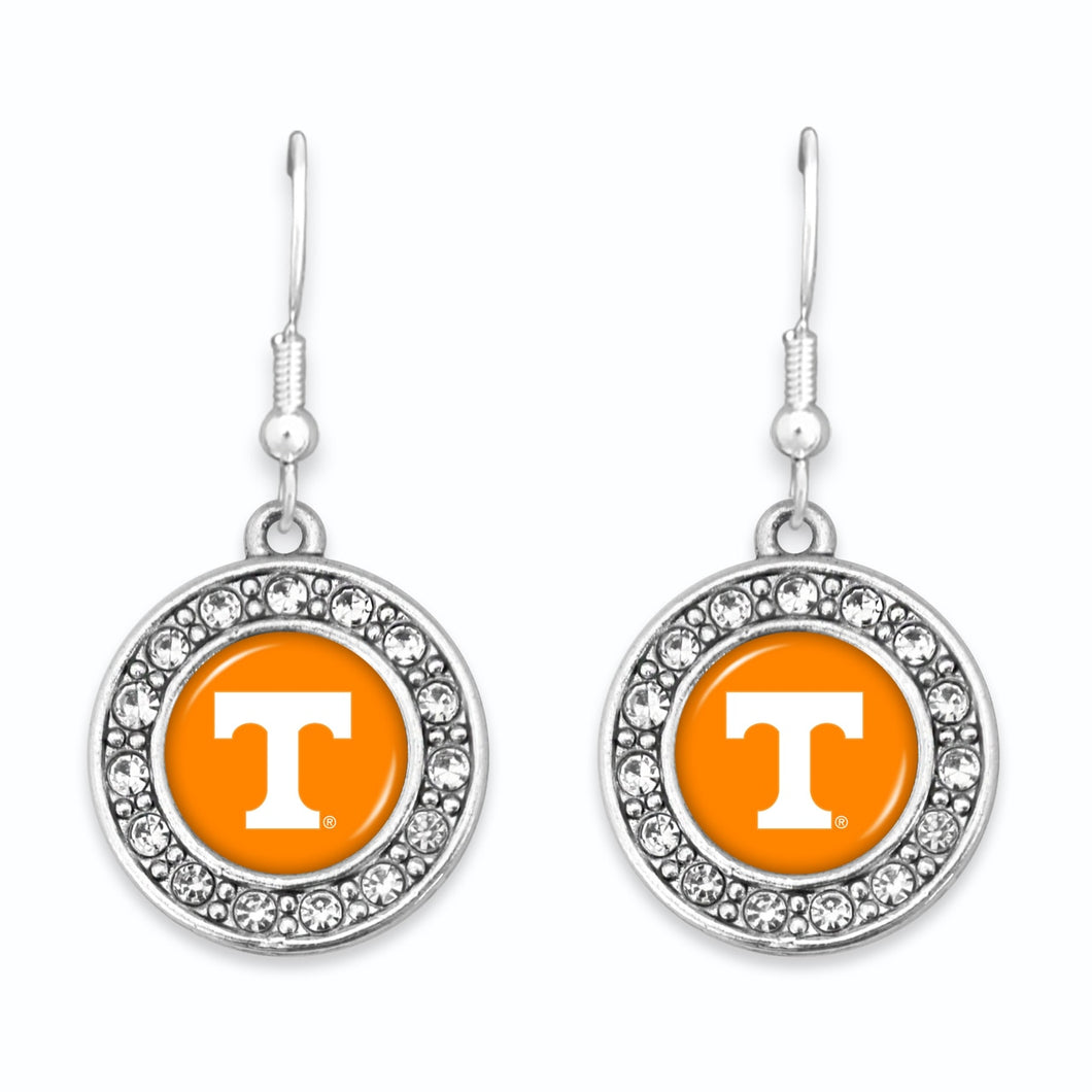 Tennessee Volunteers Abby Girl Round Crystal Earrings