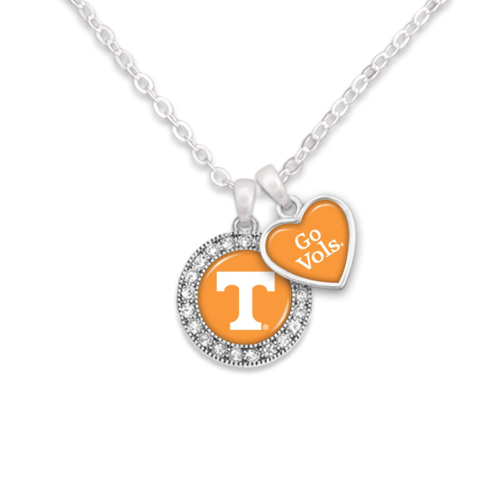 Tennessee Volunteers Spirit Slogan Necklace