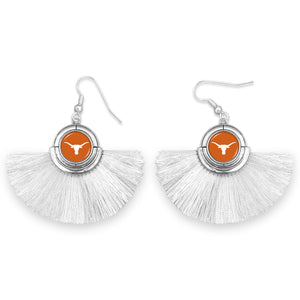 Texas Longhorns Tassel Earrings