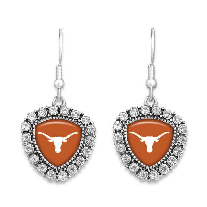 Texas Longhorns Brooke Crystal Earrings
