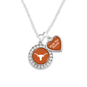 Texas Longhorns Spirit Slogan Necklace
