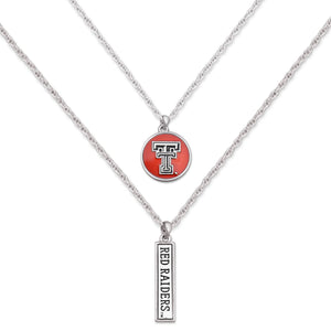 Texas Tech Raiders Double Down Necklace