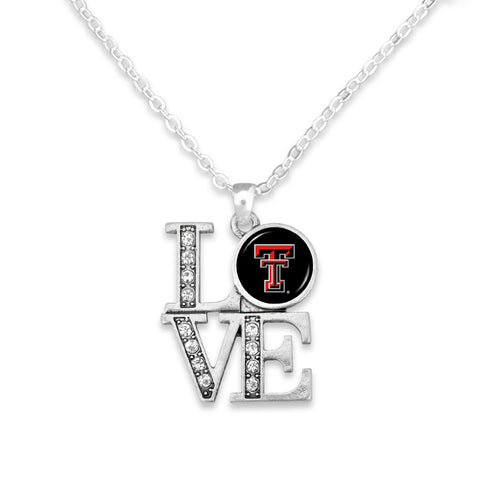 Texas Tech Raiders LOVE Necklace