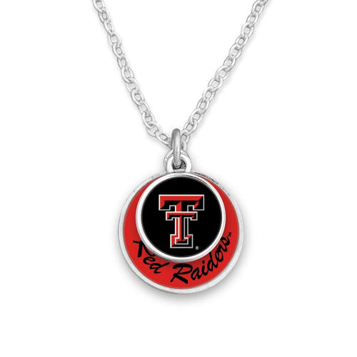 Texas Tech Raiders Stacked Disk Necklace