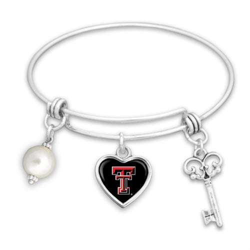 Texas Tech Raiders Pearl Bracelet