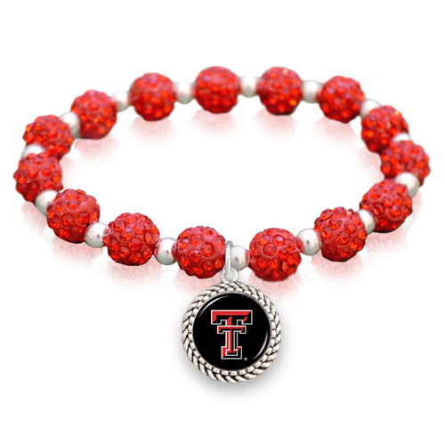 Texas Tech Raiders Team Color Sparkle Stretchy Bracelet
