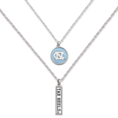 North Carolina Tar Heels Double Down Necklace