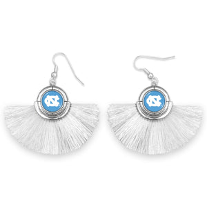 North Carolina Tar Heels Tassel Earrings