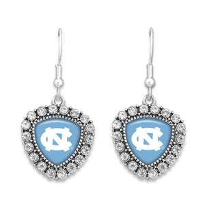 North Carolina Tar Heels Brooke Crystal Earrings