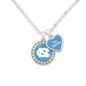 North Carolina Tar Heels Spirit Slogan Necklace
