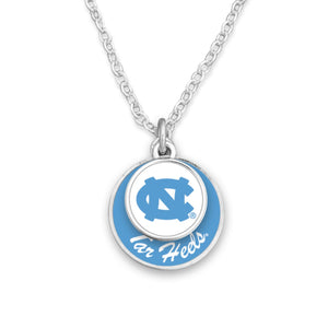 North Carolina Tar Heels Stacked Disk Necklace