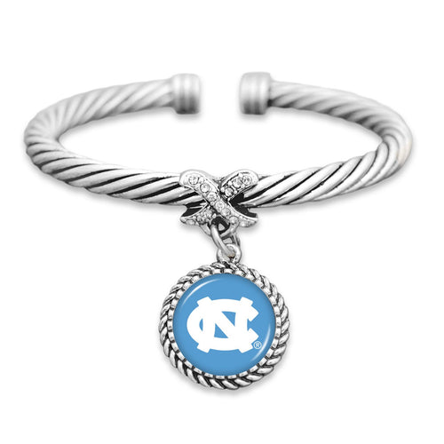 North Carolina Tar Heels Bangle Cuff Bracelet