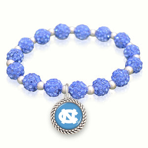 North Carolina Tar Heels Team Color Sparkle Stretchy Bracelet