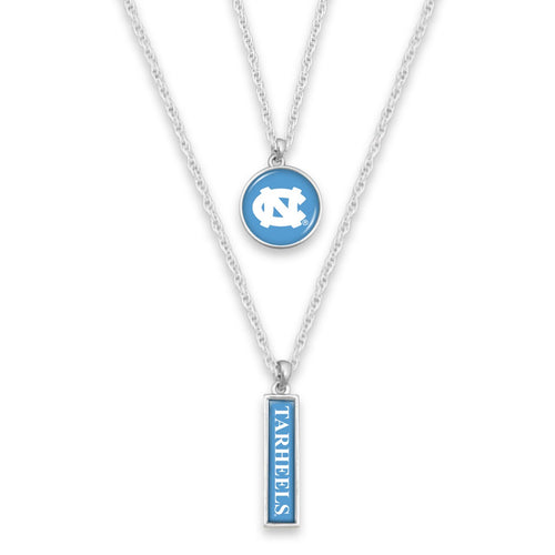 North Carolina Tar Heels Double Layer Necklace