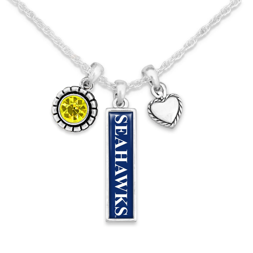 UNC Wilmington Seahawks Triple Charm Necklace