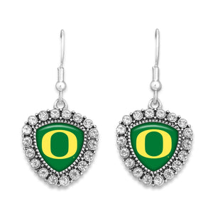 Oregon Ducks Brooke Crystal Earrings