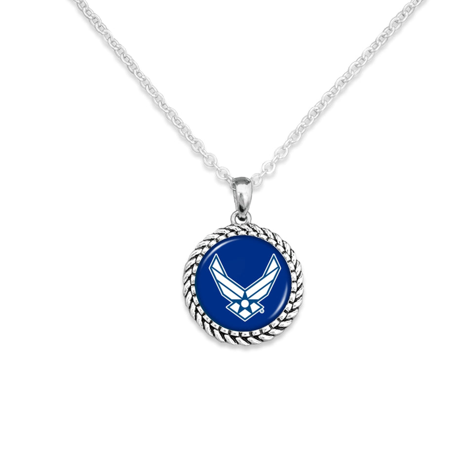 U.S. Air Force Rope Edge Charm Necklace