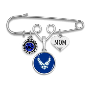 U.S. Air Force Mom Accent Charm Brooch