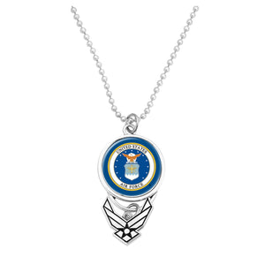 U.S. Air Force Seal with Silver Logo Car Charm
