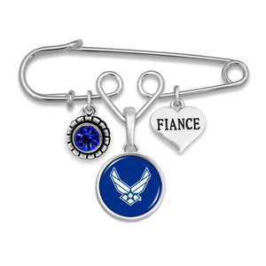 U.S. Air Force Fiance Accent Charm Brooch