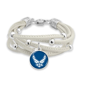 U.S. Air Force Lindy Leather Bracelet