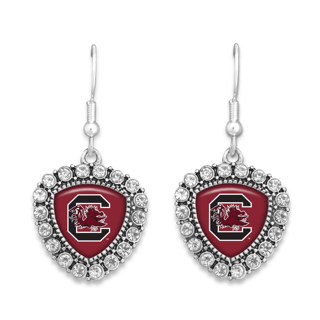 South Carolina Gamecocks Brooke Crystal Earrings
