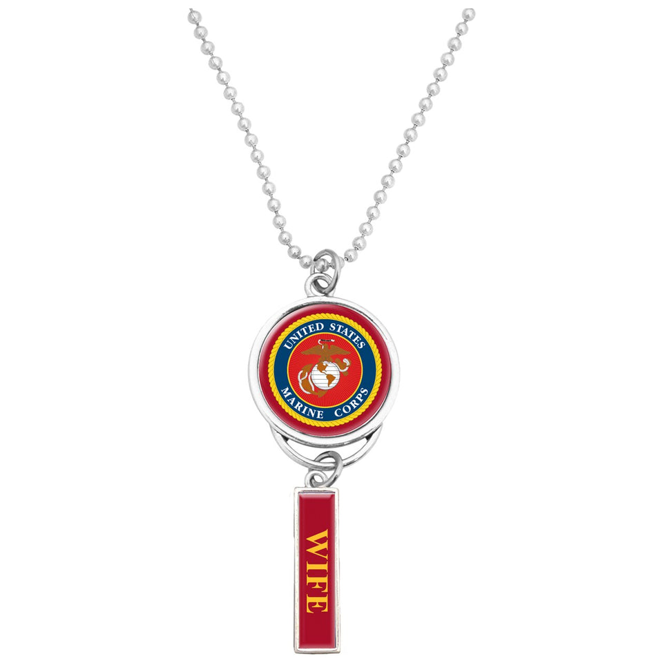 U.S. Marines Car Charm with U.S.M.C. Seal for Wife