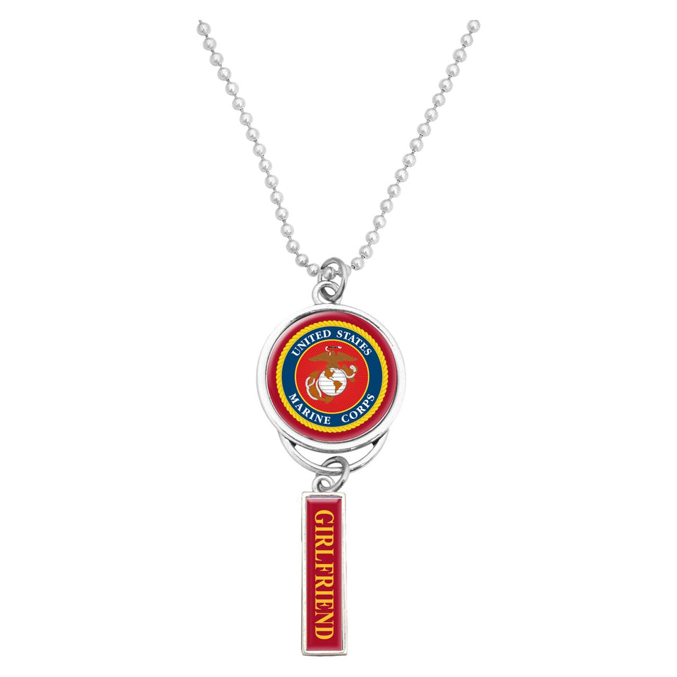 U.S. Marines Car Charm with U.S.M.C. Seal for Girlfriend