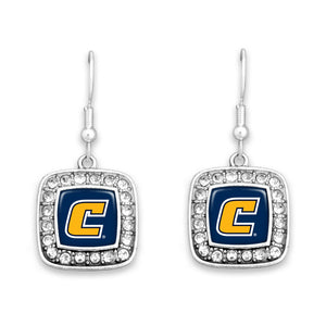 Chattanooga (Tennessee) Mocs Square Crystal Charm Kassi Earrings