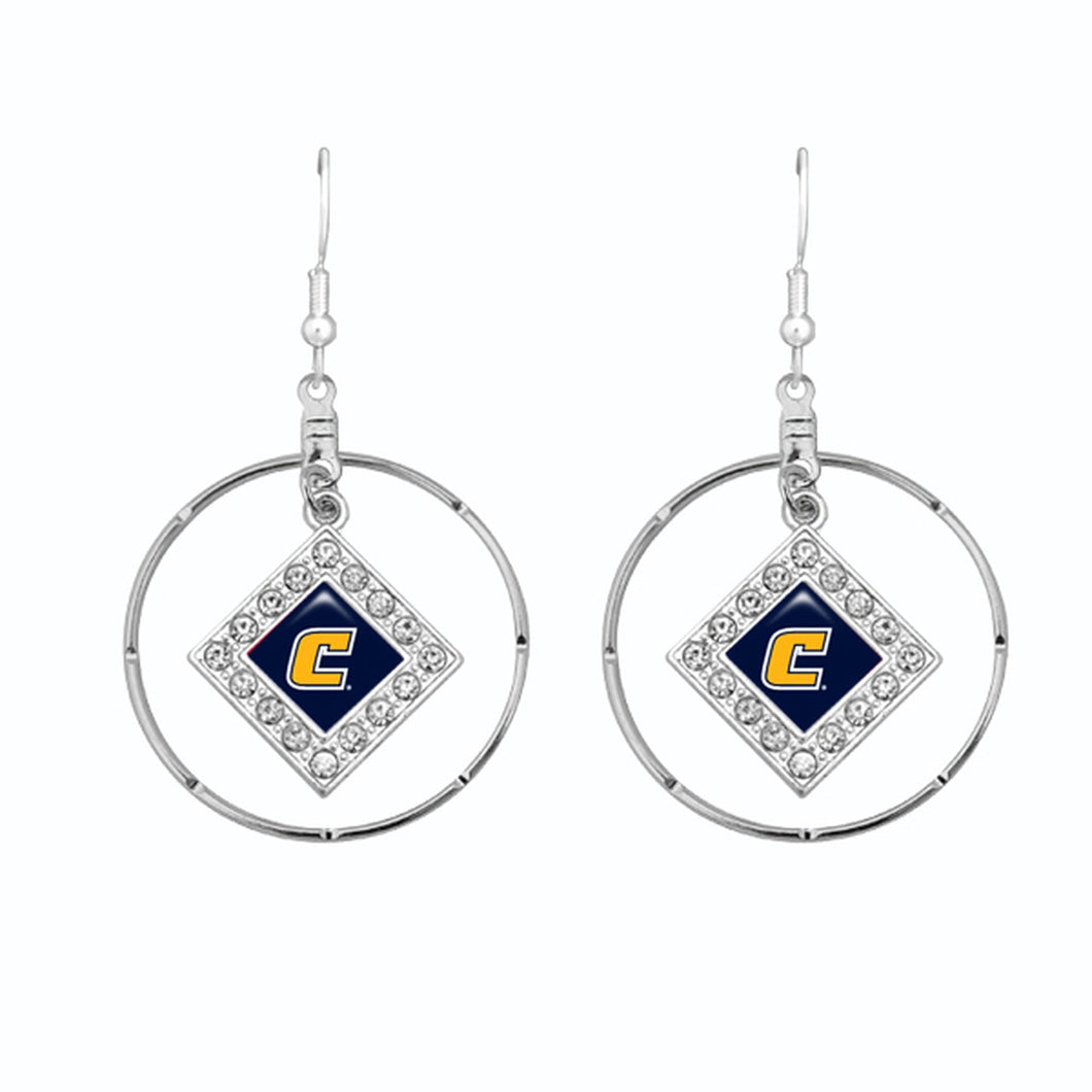 Chattanooga (Tennessee) Mocs Silver Hoop Earrings