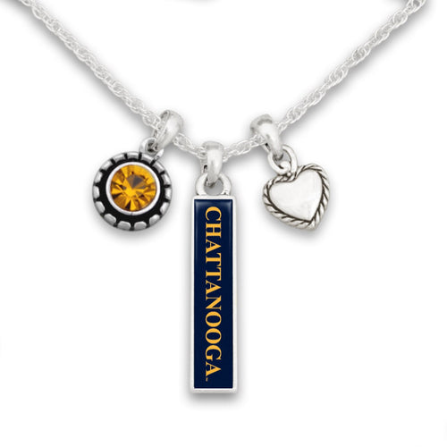 Chattanooga (Tennessee) Mocs Triple Charm Necklace