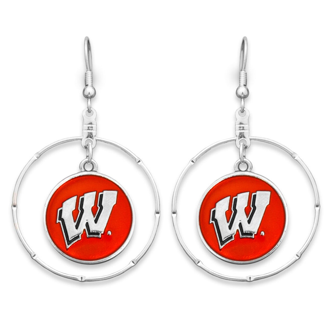 Wisconsin Badgers Campus Chic Earrings
