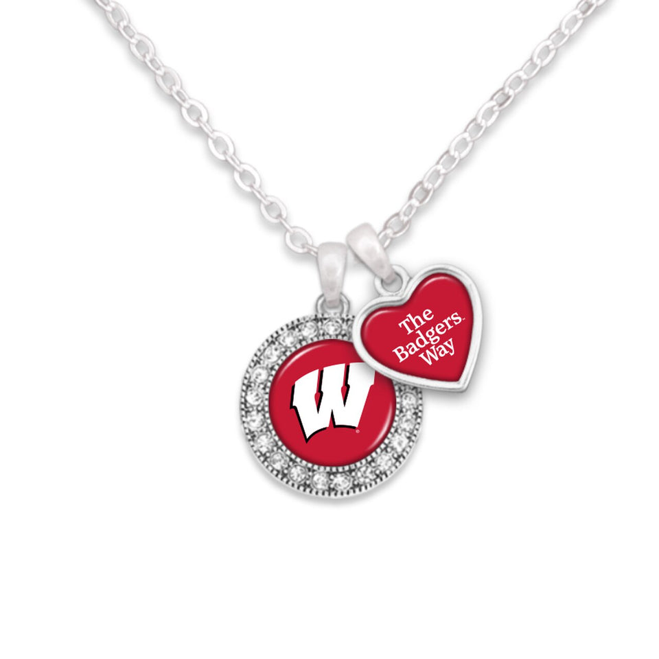 Wisconsin Badgers Spirit Slogan Necklace