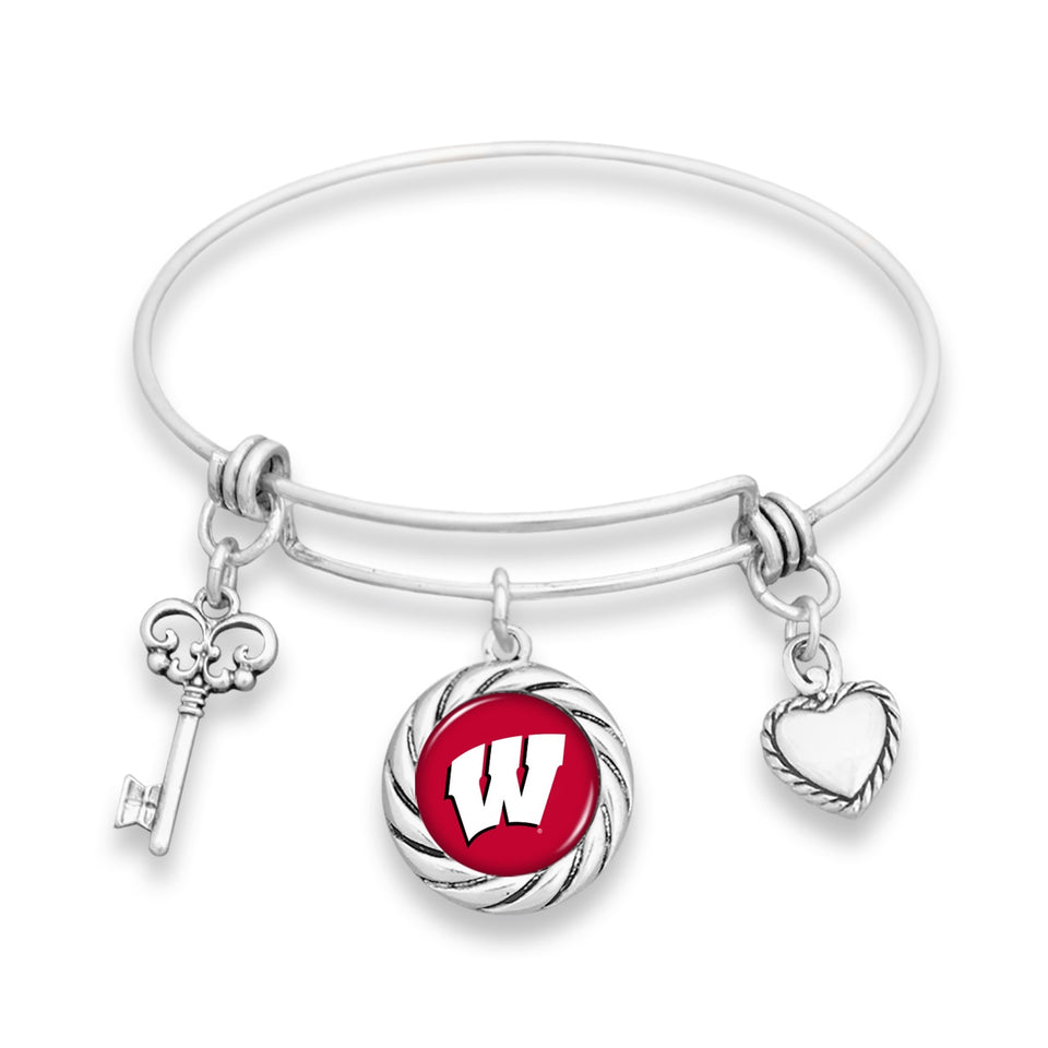 Wisconsin Badgers Twisted Rope Bracelet