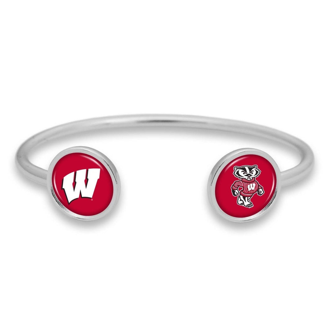 Wisconsin Badgers Duo Dome Cuff Bracelet