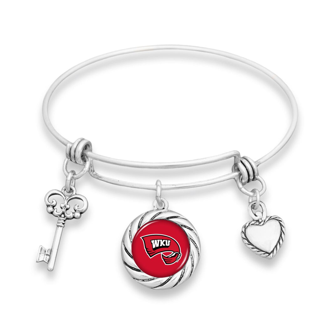 Western Kentucky Hilltoppers Twisted Rope Bracelet