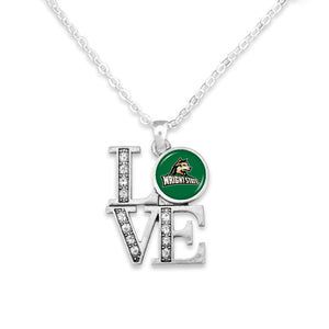 Wright State Raiders LOVE Necklace