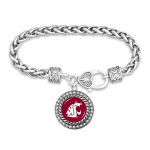 Washington State Cougars Bracelet- Allie